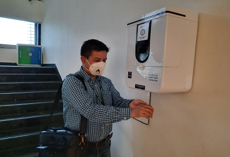 DRDO's Automatic Sanitiser Dispensing Unit Now Available In Small Version