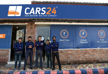 India's Cars24, a used-vehicle marketplace, secures $450M at a $1.84B valuation