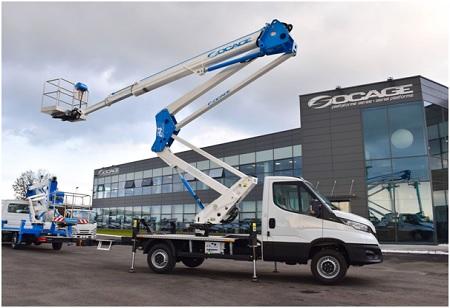 24D SPEED aerial platform truck, the most complete articulated platform