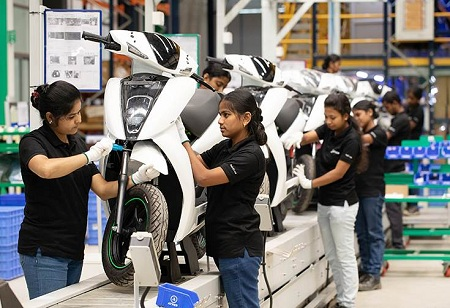 Ather Energy Starts Manufacturing EV Scooters in Hosur Plant